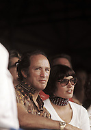 New York, NY, May 1979. Margaret and Pierre Trudeau watching a tennis match in Forrest Hills. -  Pierre E. Trudeau, (October 18, 1919 - September 28, 2000), was the 15th Prime Minister of Canada from April 20, 1968 to June 4, 1979, and again from March 3, 1980 to June 30, 1984.