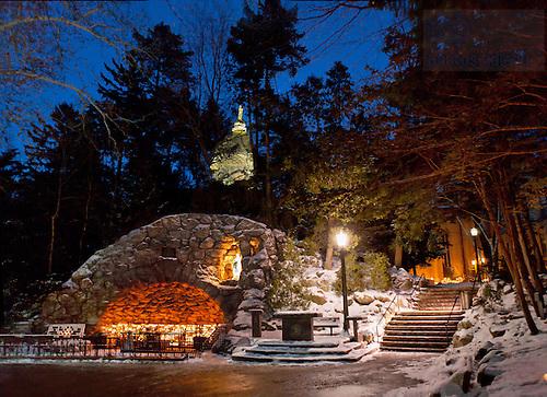 Grotto in winter
