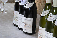 bottles for tasting bouchard p & f beaune cote de beaune burgundy france