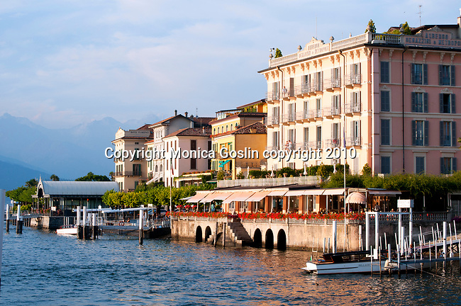 Bellagio, Italy on Lake Como at sunset