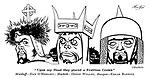 Macbeth ; Orson Welles , Edgar Barrier and Dan O'Herlihy..