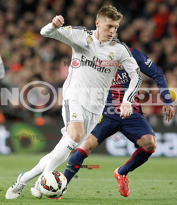 Real Madrid's Toni Kroos during La Liga match.March 22,2015. (ALTERPHOTOS/Acero) /NORTEphoto.com
