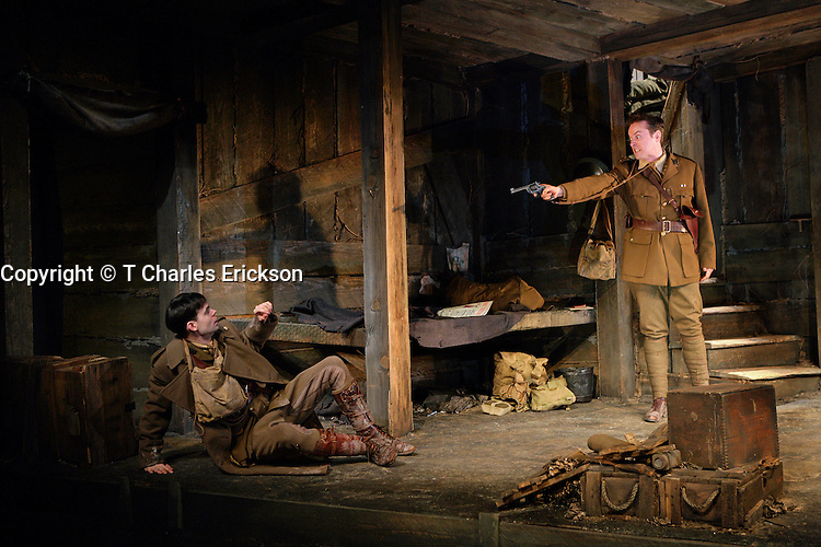 Journey's End,by R.C.Sherriff, directed by Gregory Boyd at the Alley Theatre 2/28/06.Scenic Design: Hugh Landwehr.Costume Design: Linda Fisher.Lighting Design: Pat Collins..Photo Credit: T Charles Erickson..