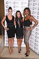 Liberty X (Jessica Pietersen, Michelle Heaton &amp; Kelli Young) arriving at James Ingham&rsquo;s Jog On to Cancer, in aid of Cancer Research UK at The Roof Gardens in Kensington, London.  <br /> 12 April  2017<br /> Picture: Steve Vas/Featureflash/SilverHub 0208 004 5359 sales@silverhubmedia.com