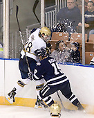 Stephen Johns (Notre Dame - 28), Mike Sislo (UNH - 19) - The University of Notre Dame Fighting Irish defeated the University of New Hampshire Wildcats 2-1 in the NCAA Northeast Regional Final on Sunday, March 27, 2011, at Verizon Wireless Arena in Manchester, New Hampshire.