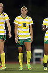 04 September 2015: Oregon's Kelsey Foo. The North Carolina State University Wolfpack hosted the Oregon University Ducks at Dail Soccer Field in Raleigh, NC in a 2015 NCAA Division I Women's Soccer game. NC State won the game 2-0.
