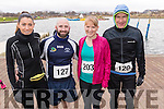 Orla O'Byrne, David Hughes and Aoife O'Connor (Tralee) with Brendan Hoare (Castlegregory), all who took part in the Valentines 10 mile road race in Tralee, on Sunday morning last.
