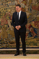 King Felipe Vi of Spain audience with the President of the Generalitat Valenciana, Ximo Puig.