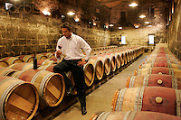 Edouard Moueix in his cellars of Chateau Magdalaine, St. Emilion