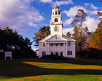 Country Church at Sunset, Westmoreland, New Hampshire