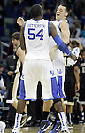 Patrick Patterson chest bumps Mark Krebs after UK's second round  win, 90-60 over Wake Forest in the NCAA tournament at New Orleans Arena on Saturday, March 20, 2010. Photo by Britney McIntosh | Staff