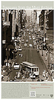 Cable Car on Turntable at Powell and Market Sts | October 2, 1957 | Treasures from the Muni Archive