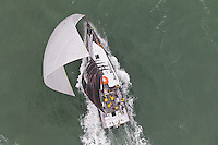 NEW ZEALAND. 11th March 2012. Volvo Ocean Race Leg 4. Leg finish Auckland. Abu Dhabi Ocean Racing.
