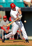 8 March 2006: Matthew LeCroy, catcher for the Washington Nationals, at bat during a Spring Training game against the St. Louis Cardinals. The Cardinals defeated the Nationals 7-4 in 10 innings at Space Coast Stadium, in Viera, Florida...Mandatory Photo Credit: Ed Wolfstein.