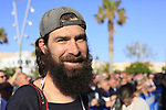 Beardy McBeard at the Team Presentation in Alghero, Sardinia for the 100th edition of the Giro d'Italia 2017, Sardinia, Italy. 4th May 2017.<br /> Picture: Eoin Clarke | Cyclefile<br /> <br /> <br /> All photos usage must carry mandatory copyright credit (&copy; Cyclefile | Eoin Clarke)