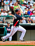 17 March 2009: Atlanta Braves' outfielder Jeff Francoeur in action during a Spring Training game against the New York Mets at Disney's Wide World of Sports in Orlando, Florida. The Braves defeated the Mets 5-1 in the Saint Patrick's Day Grapefruit League matchup. Mandatory Photo Credit: Ed Wolfstein Photo