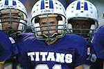 The Titan football team ready to take the field.