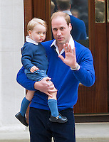 Prince George visits his new sister at hospital with father Prince William - UK