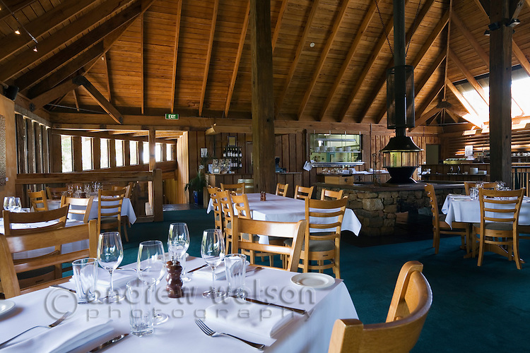 Interior of the renowned restaurant at Vasse Felix Estate.  Wilyabryp, Margaret River, Western Australia, AUSTRALIA.