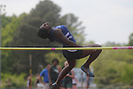 Oxford High's Tonya Toles high jumps at the Class 5A District Track Meet at Oxford High School on Thursday, April 22, 2010 in Oxford, Miss.