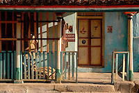 Street house. Kairakkal..South India.
