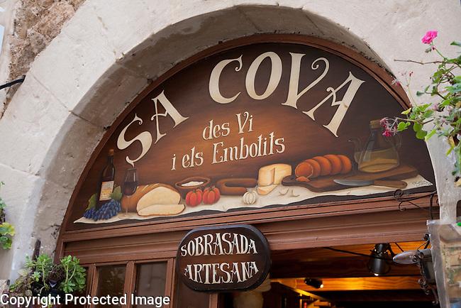 Sa Cova Food Shop in Valldemossa, Majorca, Spain