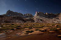 Star Trails in the Eastern Sierra Nevada Mountains.