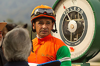 ARCADIA, CA  MARCH 4:  (Photo by Casey Phillips/Eclipse Sportswire/Getty Images)ARCADIA, CA  MARCH 4:Jockey Mike Smith weighs in after winning the Santa Ysabel Stakes (Grade lll) on March 4, 2017, at Santa Anita Park in Arcadia, CA (Photo by Casey Phillips/Eclipse Sportswire/Getty Images)