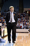 02 January 2014: UNC associate head coach Andrew Calder. The University of North Carolina Tar Heels played the James Madison University Dukes in an NCAA Division I women's basketball game at Carmichael Arena in Chapel Hill, North Carolina.