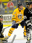 29 December 2007: Quinnipiac University Bobcats' forward David Marshall, a Junior from Buffalo, MN, in action against the Western Michigan University Broncos at Gutterson Fieldhouse in Burlington, Vermont. The Bobcats defeated the Broncos 2-1 in the first game of the Sheraton/TD Banknorth Catamount Cup Tournament...Mandatory Photo Credit: Ed Wolfstein Photo