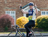 Serious cyclist, Thames Ditton, Surrey.