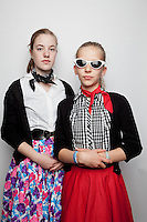 L-R Ruby Burgess 13 and Tahlai Richardson12 are pictured at The 2012 Historic Houses Trust of NSW annual Fifties Fair at Rose Seidler House, Sydney. Picture James Horan