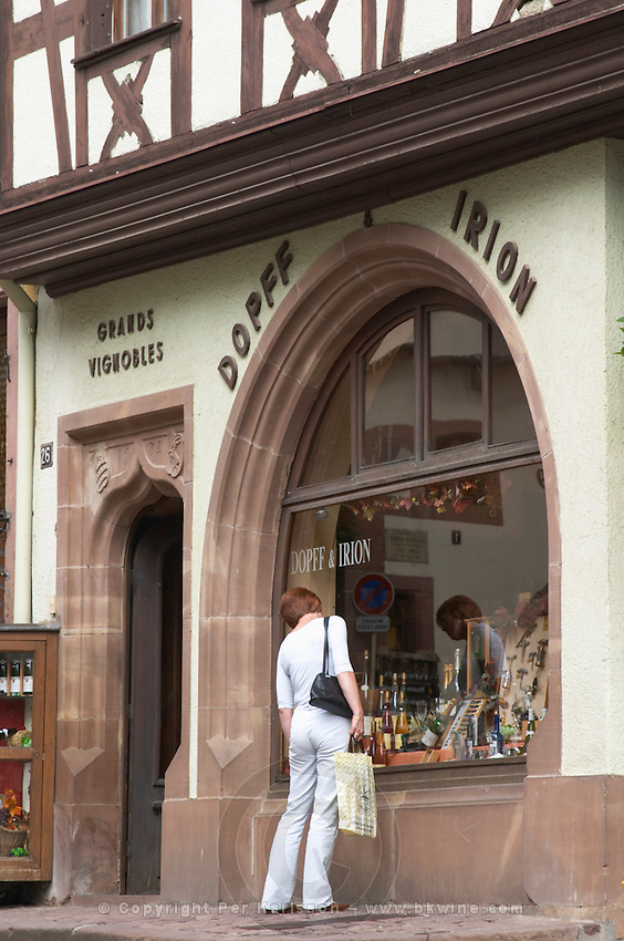 wine shop dopff and irion riquewihr alsace france