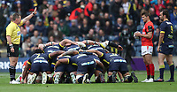 A scrum during todays game<br /> <br /> Photographer Rachel Holborn/CameraSport<br /> <br /> European Rugby Champions Cup Final - Clermont Auvergne v Saracens - Saturday 13th May 2017 - BT Murrayfield, Edinburgh<br /> <br /> World Copyright &copy; 2017 CameraSport. All rights reserved. 43 Linden Ave. Countesthorpe. Leicester. England. LE8 5PG - Tel: +44 (0) 116 277 4147 - admin@camerasport.com - www.camerasport.com