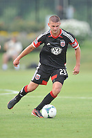 Perry Kitchen (23) of D.C. United. D.C. United defeated the The New England Revolution 3-1 in the Quarterfinals of Lamar Hunt U.S. Open Cup, at the Maryland SoccerPlex, Tuesday June 26 , 2013.