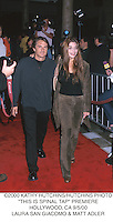 "©2000 KATHY HUTCHINS/HUTCHINS PHOTO.""THIS IS SPINAL TAP"" PREMIERE.HOLLYWOOD, CA 9/5/00.LAURA SAN GIACOMO & MATT ADLER"