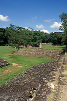 Maya ball court at the ruins of Copan, Honduras