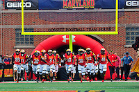 Maryland Terrapins entered the field to take on Howard Bison during home season opener at Capital One Field in College Park, MD on Saturday, September 3, 2016.