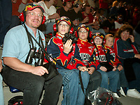 Jeff Gordon fans, family, UAW-GM Quality 500, Charlotte Motor Speedway, Charlotte, NC, October 11, 2003.  (Photo by Brian Cleary/bcpix.com)