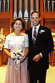 Dorothy &quot;Doro&quot; Bush LeBlond, only daughter of United States President George H.W. Bush poses with her new husband, Democratic aide Robert P. &quot;Bobby&quot; Koch, during a private wedding ceremony at the Presidential retreat at Camp David, Maryland on June 28, 1992.  Her gown of peach chiffon was designed by Arnold Scaasi<br /> Mandatory Credit: David Valdez / White House via CNP