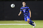 12 October 2012: Duke's Jack Coleman. The University of Maryland Terrapins defeated the Duke University Blue Devils 2-1 at Koskinen Stadium in Durham, North Carolina in a 2012 NCAA Division I Men's Soccer game.