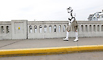 A man dressed as a Star Wars stormtrooper - wearing a kilt  - walks across the Main Street Bridge after the inaugural Jersey Shore Kilt Run, a 2-mile race in Manasquan to raise money for the Hurricane Sandy relief group Squan Strong and break the Guinness record for the world's largest kilt race.  MANASQUAN, NJ 3/22/2014 (Andrew Mills/The Star-Ledger)