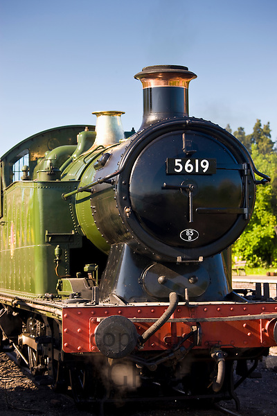 British Railways steam train engine 5619 at Toddington station, Gloucestershire