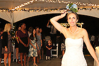 Mindy and Joel's Wedding October 14, 2011 - Dee catches bouquet.