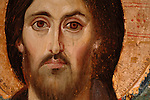 Painting of Jesus in coptic syle, St. Catherine's Monastery Museum, the oldest continuously operating Christian church in the world,Encaustic technique, 6th century AD,  Mount Sinai, Egypt, Gospel of Judas; Codex Tchacos; Critical Edition, Gnostic text;Geneva