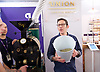 The London Coffee Festival <br /> Truman Brewery, Brick Lane, London, Great Britain <br /> 7th April 2017 <br /> <br /> <br /> General atmosphere on the opening day of the London Coffee Festival <br /> Jeremy Torz - co-director of Union Coffee delivering some training to delegates. <br /> <br /> <br /> Photograph by Elliott Franks <br /> Image licensed to Elliott Franks Photography Services