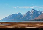 Exposed Lakebed, North Jackson Lake, Teewinot, Grand Teton, Mount Moran, Grand Teton National Park, Wyoming