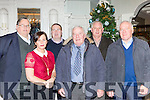 Padraig Hartnett, Noreen O'Connor, Joe McCarthy, Ted O'Connor, Johnny Lyne and James O'Connor at the Killarney Celtic 40th anniversary social in the Killarney Avenue on Friday night