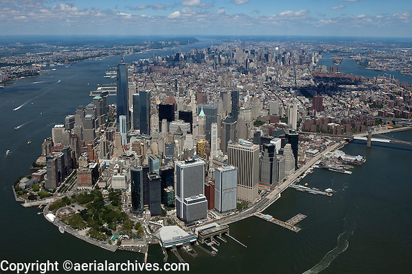 aerial photograph Lower Manhattan, South Ferry, Battery Park, New York City