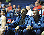 "Ole Miss' Reggie Buckner watches from the bench vs. Grambling State during the second half at the C.M. ""Tad"" Smith Coliseum in Oxford, Miss. on Monday, November 14, 2011. Buckner was suspended for conduct detrimental to the team, according to head coach Andy Kennedy."